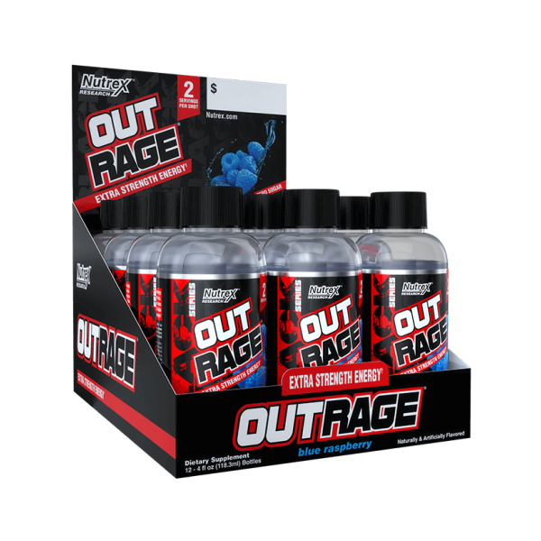 Nutrex Outrage Energy Shot 12 Pack